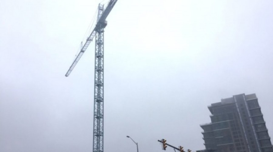 Crane in Place Means New Reston Station Building on the Way